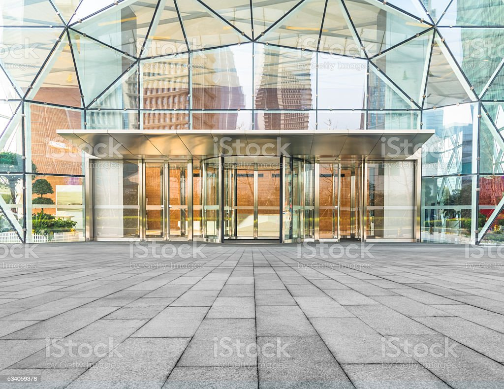 corporate building entrance stock photo