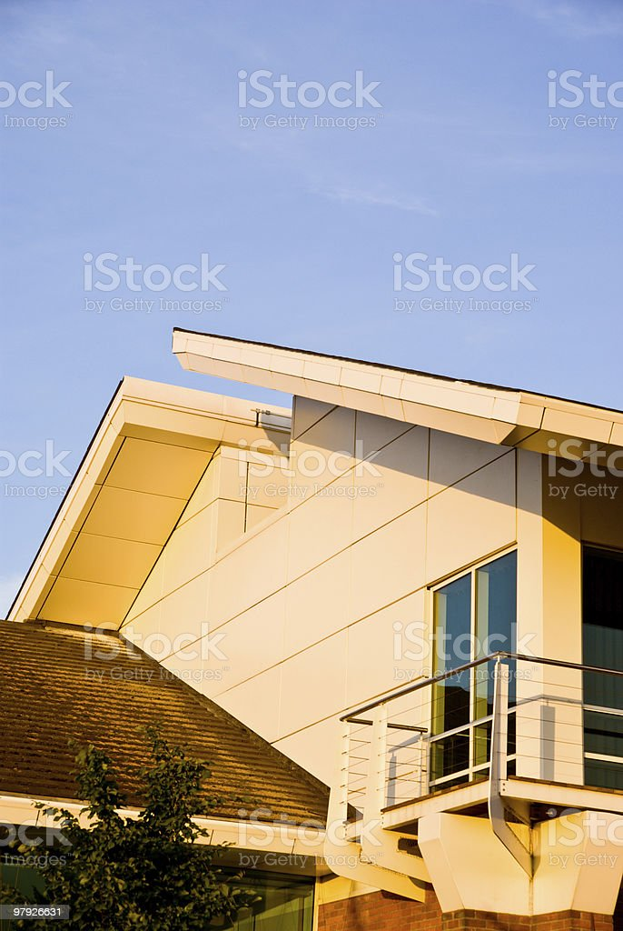 Corporate building facade royalty-free stock photo