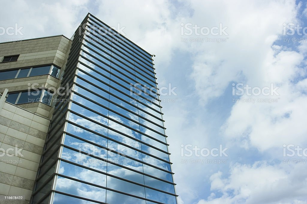 Corporate building in sky royalty-free stock photo