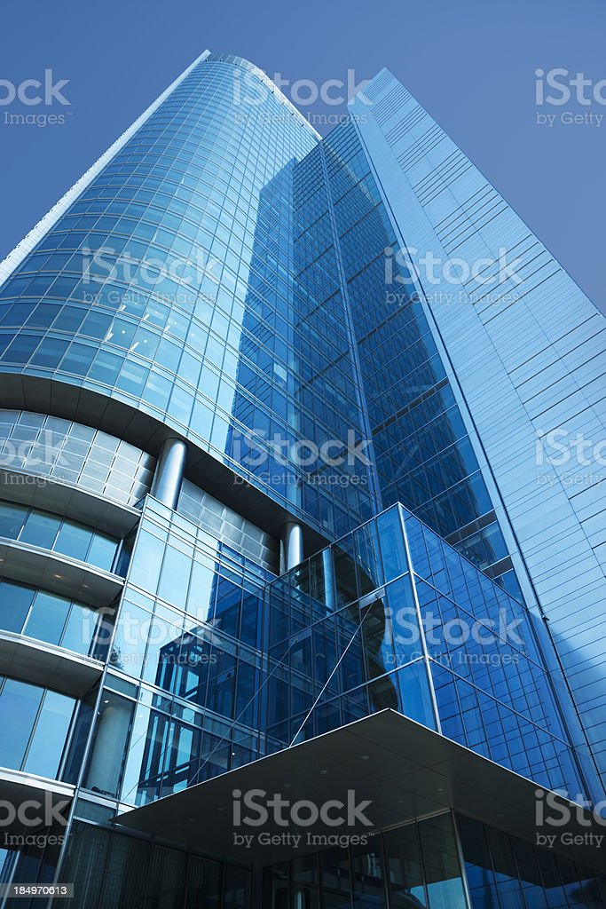 Corporate Building Low Angle View royalty-free stock photo