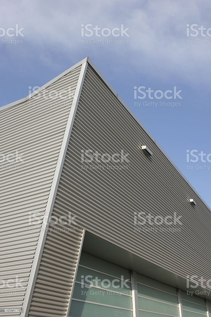 Corporate building pointing at the top royalty-free stock photo