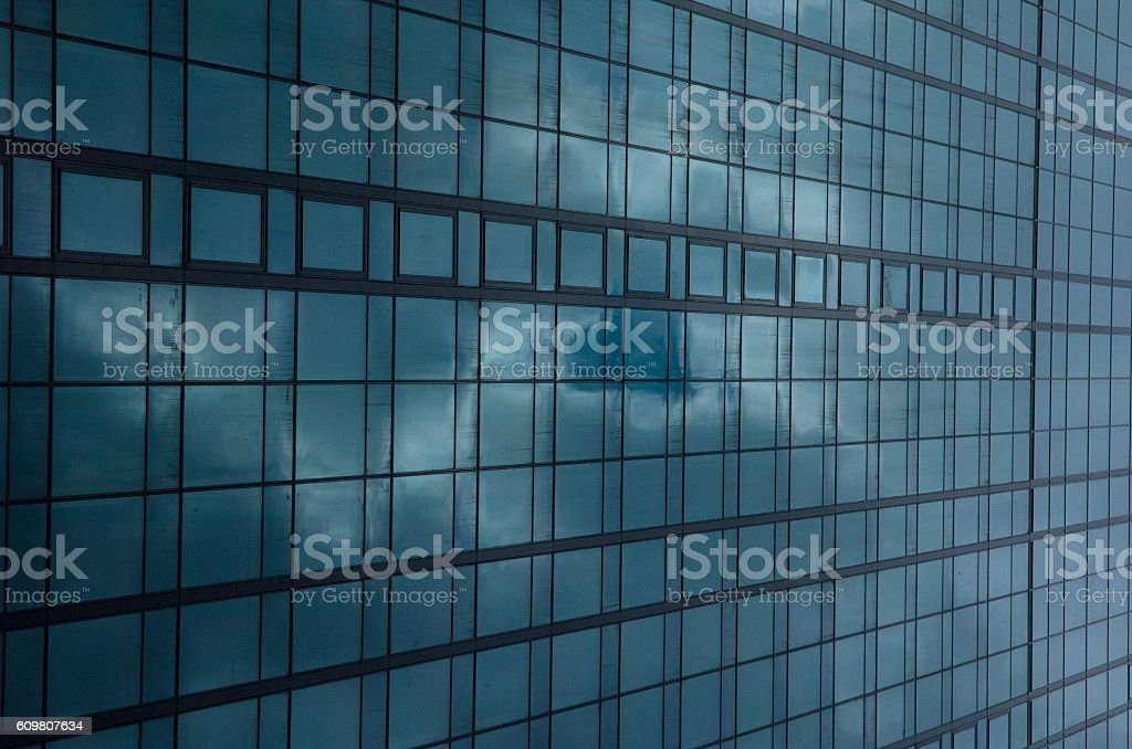 Corporate building with glass facade stock photo