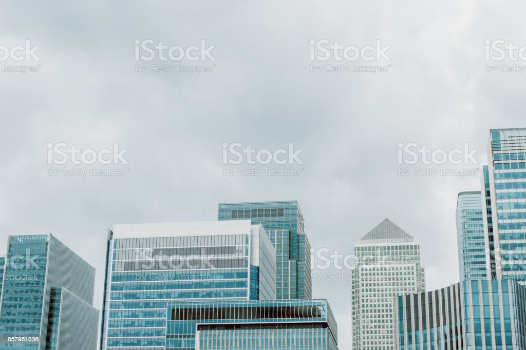 Corporate Buildings. Corporate Modern Offices Buildings in London, England. stock photo