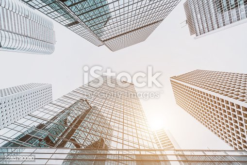 istock Corporate Buildings in Central, Hong Kong 1285790080
