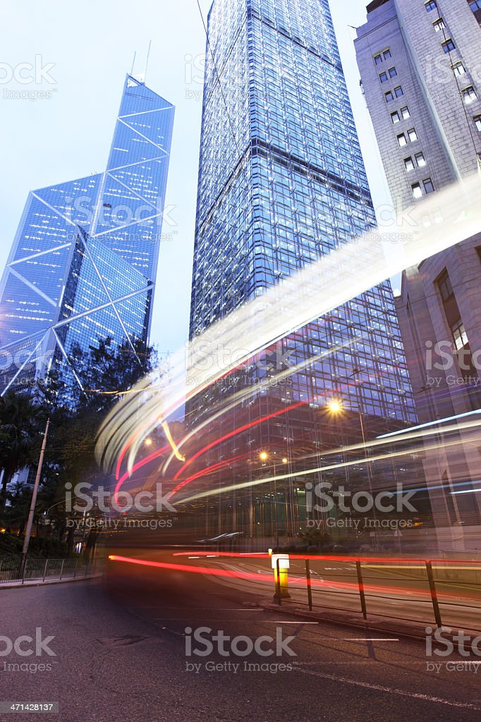 Corporate Buildings in Financial District royalty-free stock photo