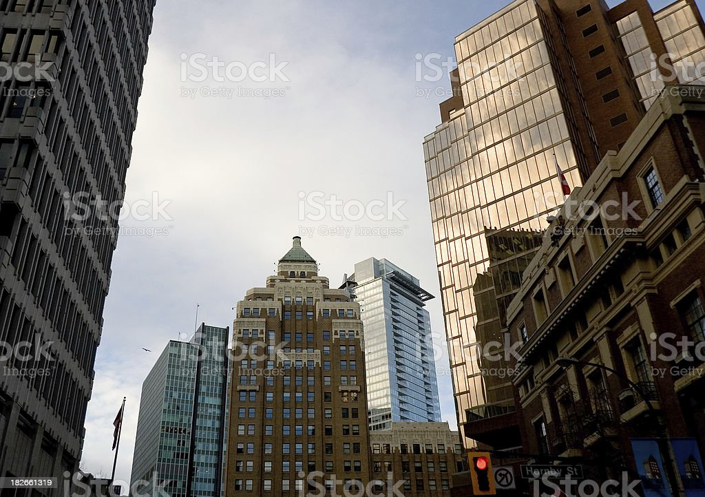 Corporate Buildings in Vancouver royalty-free stock photo