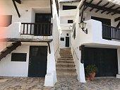This is Binibeca vell village. Menorca island. Spain.