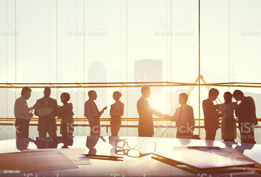 Corporate Business Communication Strategy Concept stock photo