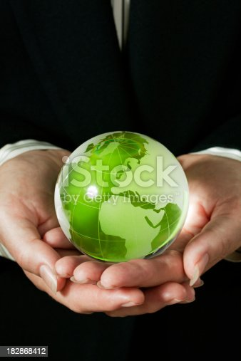 638813890istockphoto Corporate Business Hands Holding Earth Friendly Green World Globe- Europe 182868412