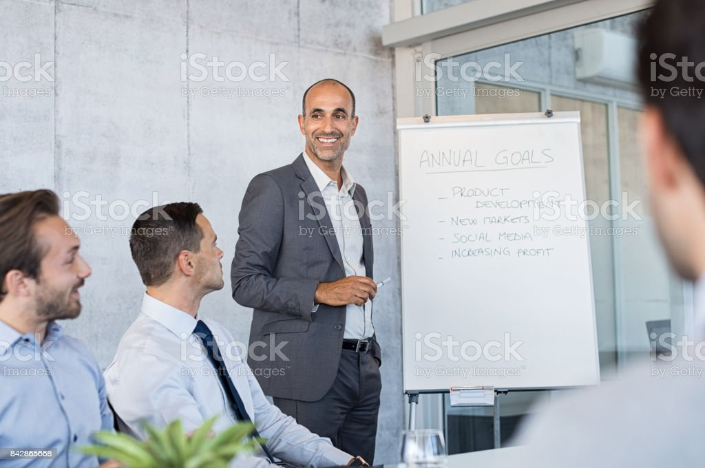 Corporate business meeting stock photo
