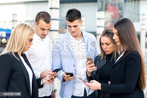 istock Corporate business networking 1002037436