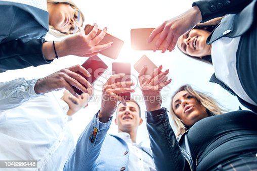 istock Corporate business networking 1046386448