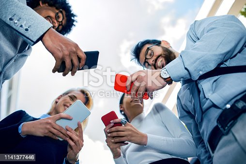istock Corporate business networking 1141377446