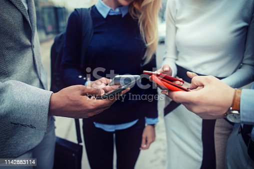 istock Corporate business networking 1142883114