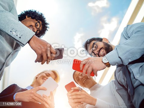 istock Corporate business networking 1142887056