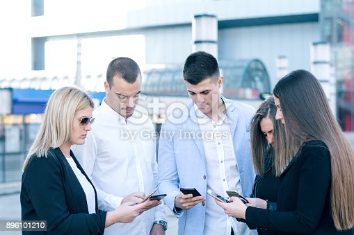 istock Corporate business networking 896101210
