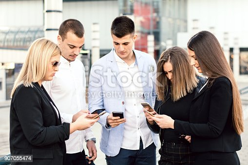 istock Corporate business networking 907055474