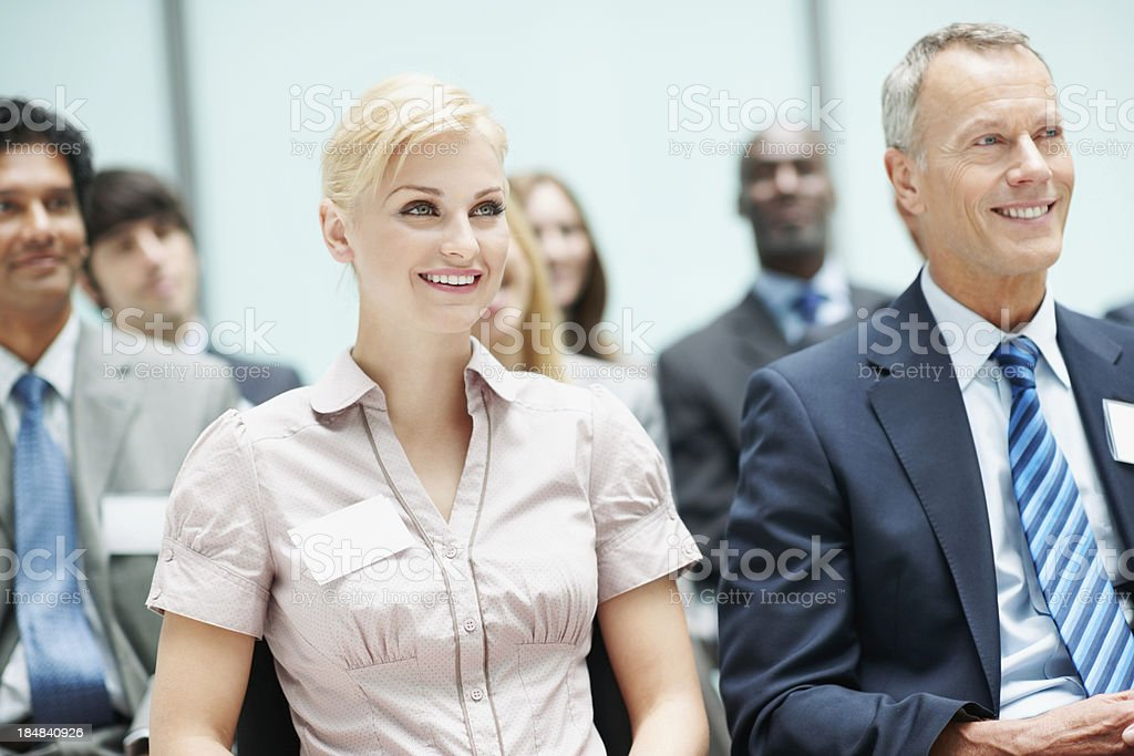 Corporate business people in a conference meeting royalty-free stock photo
