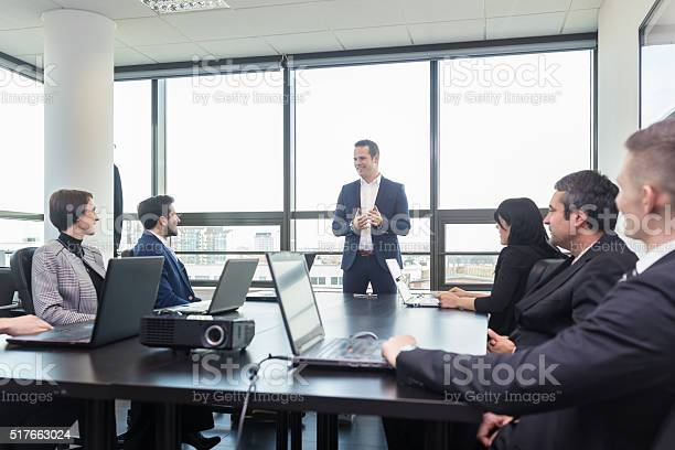 Corporate Business Team Office Meeting Stock Photo - Download Image Now