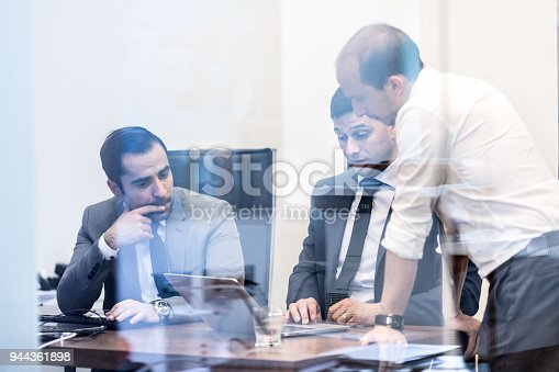 istock Corporate business team working in modern office. 944361898