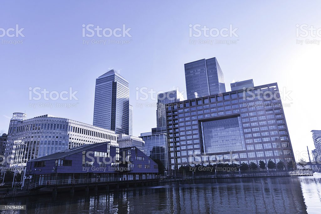 Corporate Canary Wharf stock photo