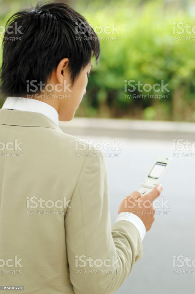 Corporate cell phone e-verify royalty-free stock photo