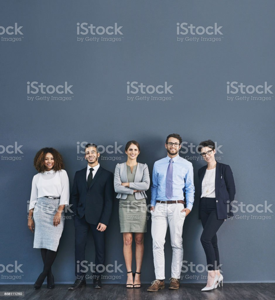 Corporate confidence at it's best stock photo