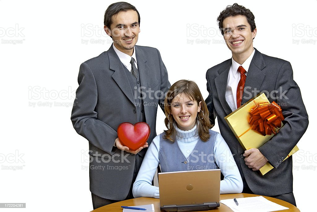 Corporate congratulations royalty-free stock photo