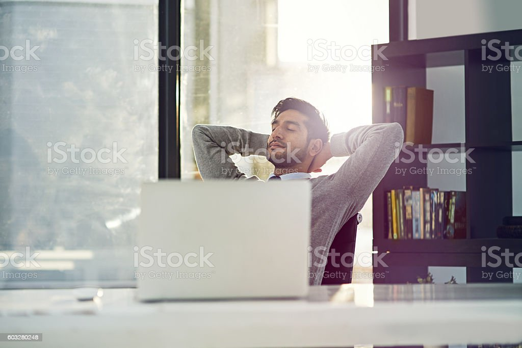 Corporate contentment stock photo