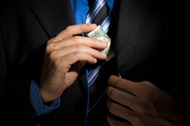 Corporate Corruption stock photo