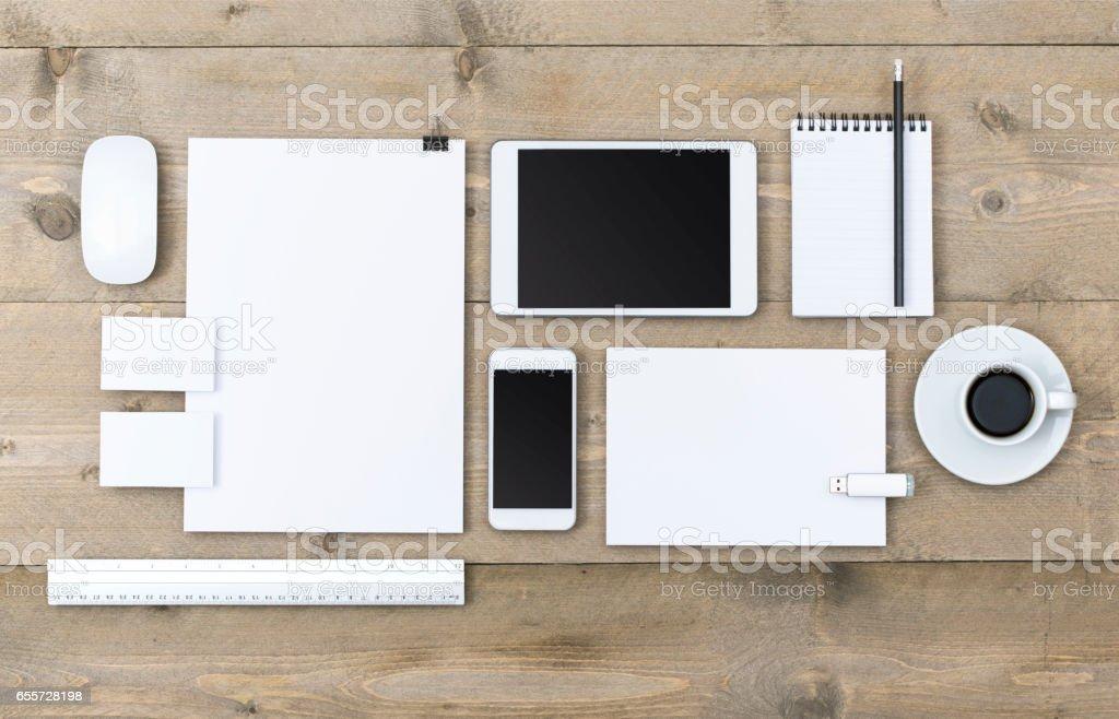 corporate design mockup stock photo