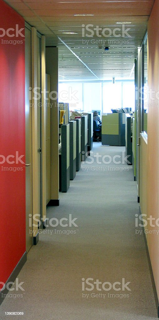 corporate - Empty office corridor royalty-free stock photo