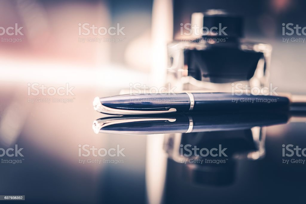 Corporate Executive Desk stock photo