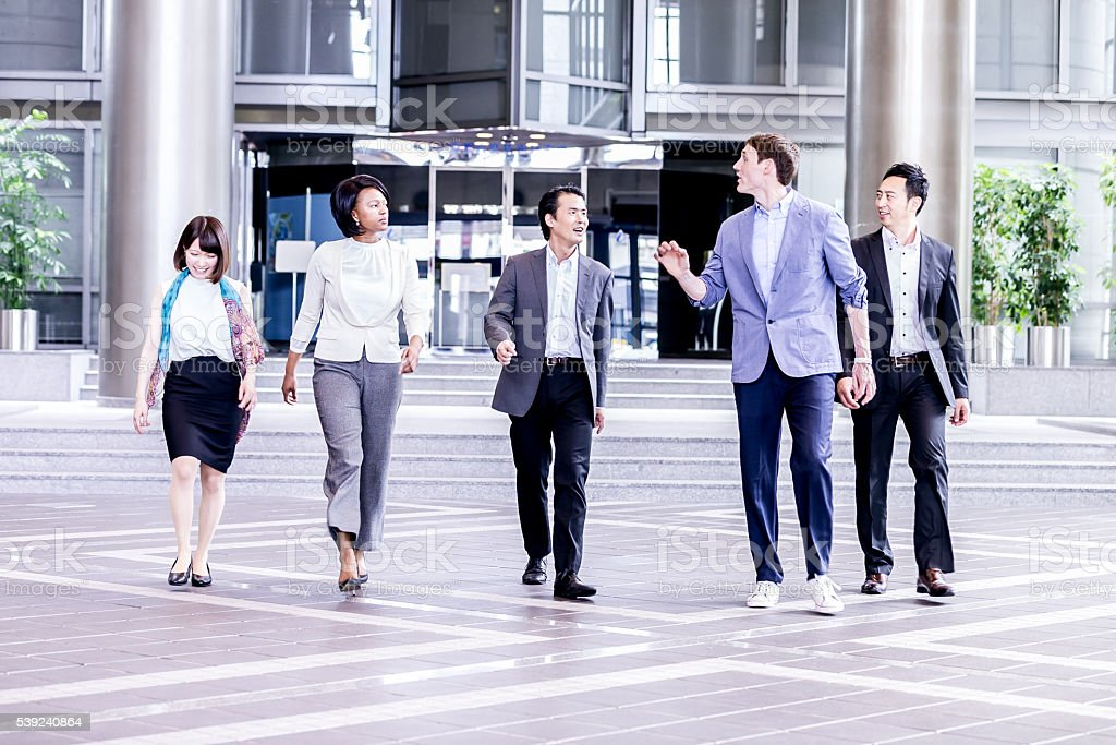 Corporate Executives on the move royalty-free stock photo