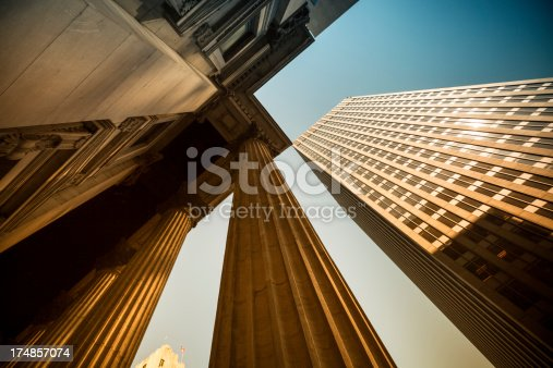 istock Corporate finance buildings 174857074