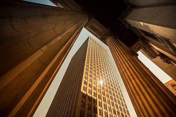Corporate finance buildings stock photo