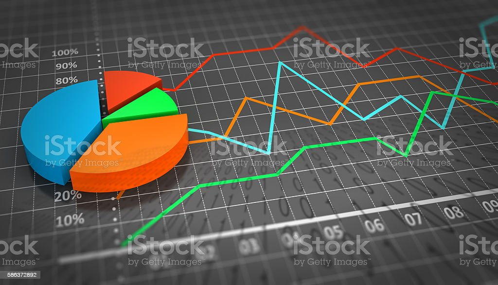 Corporate financial and investment concept stock photo