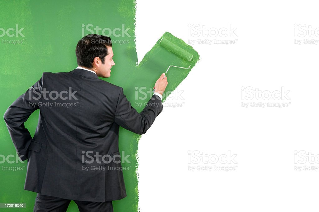 Corporate Goes Green royalty-free stock photo