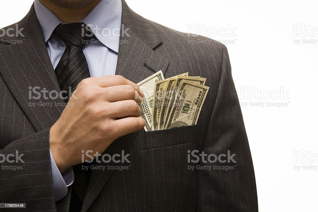 Corporate greed stock photo