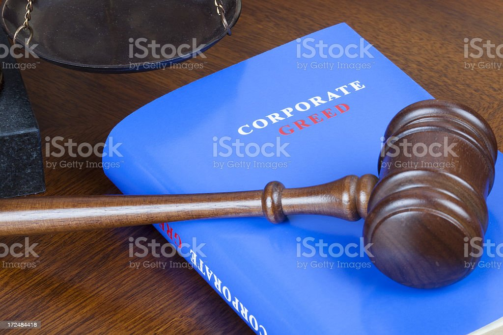 Corporate greed royalty-free stock photo