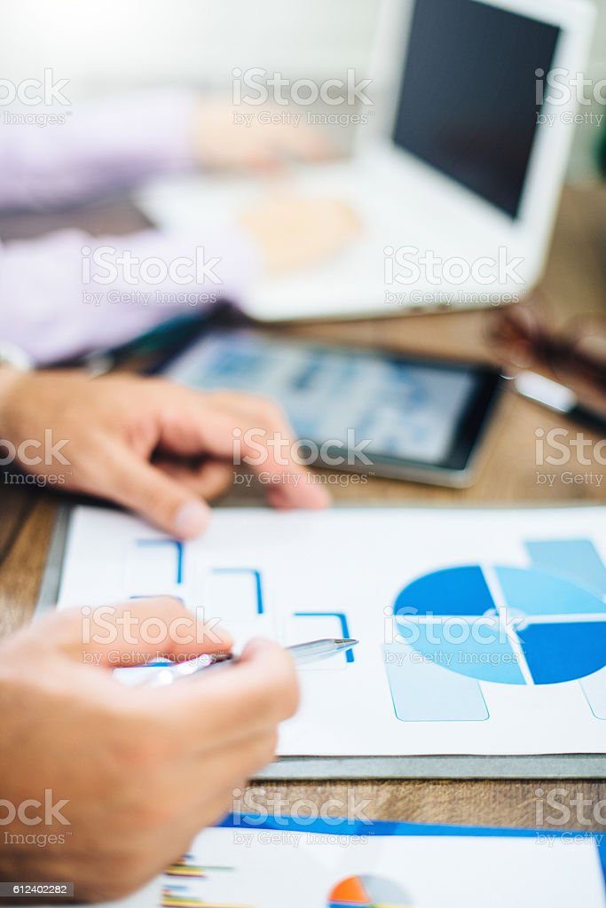 Corporate hierarchy discussed stock photo