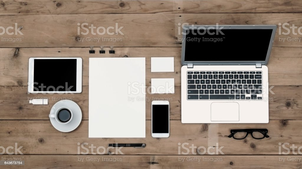 corporate identity mockup stock photo