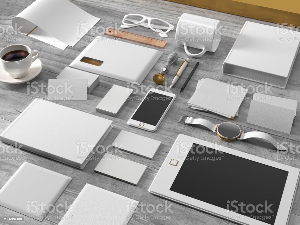 Corporate identity mockup stock photo