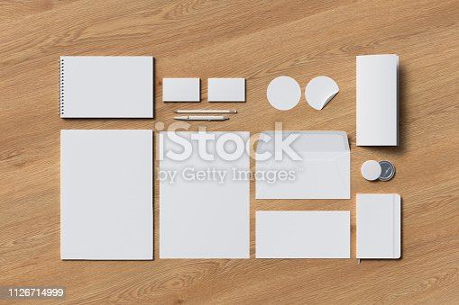 istock Corporate identity. Stationary branding set 1126714999