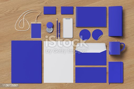 istock Corporate identity. Stationary branding set 1126725301