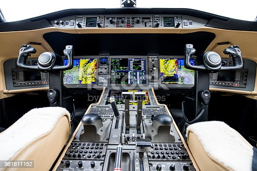 Corporate Jet Cockpit