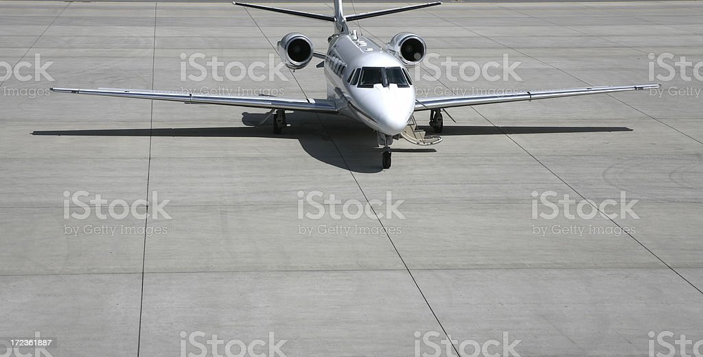 Corporate jet. stock photo