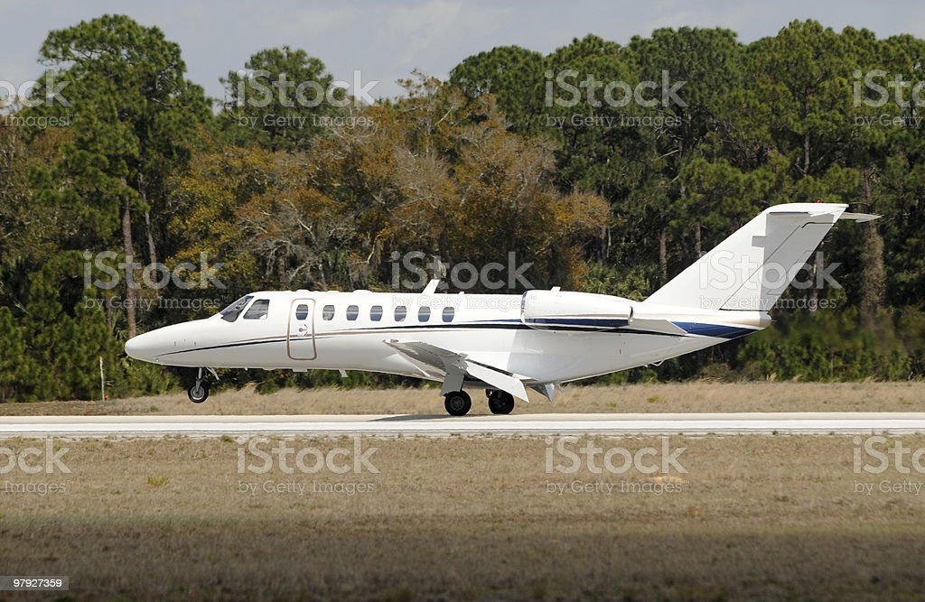Corporate jet royalty-free stock photo