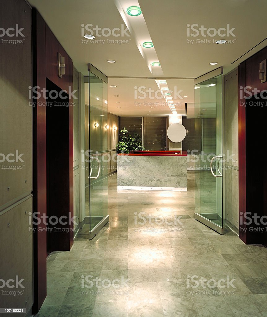 Corporate Lobby royalty-free stock photo