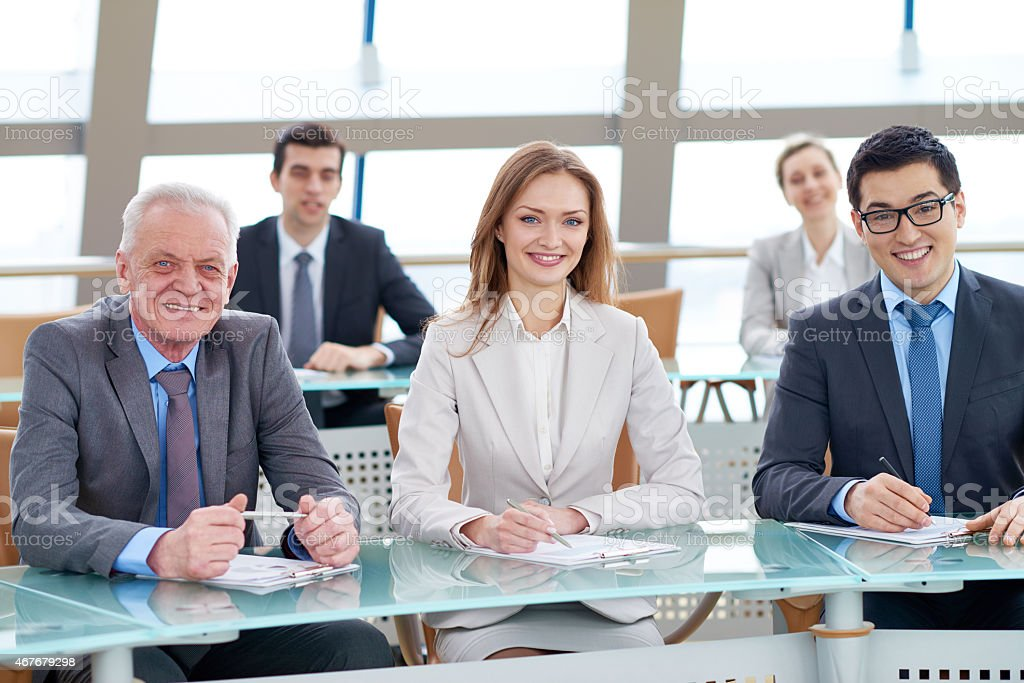 Corporate meeting stock photo